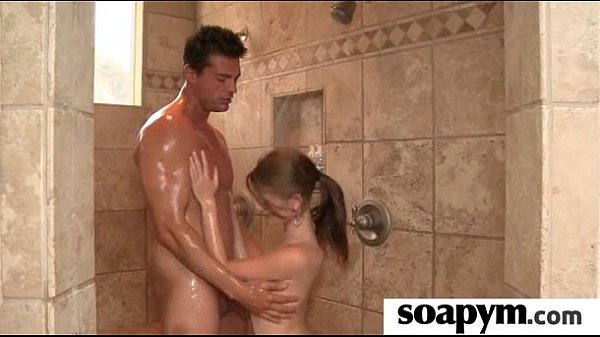 adorable teen gives an amazing soapy massage 28