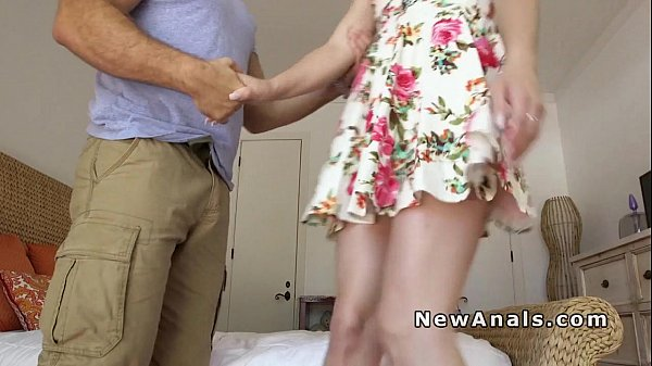 Couple recording their first time anal sex