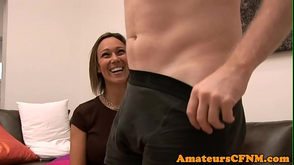 Femdom babe humiliates guy during CFNM Thumb