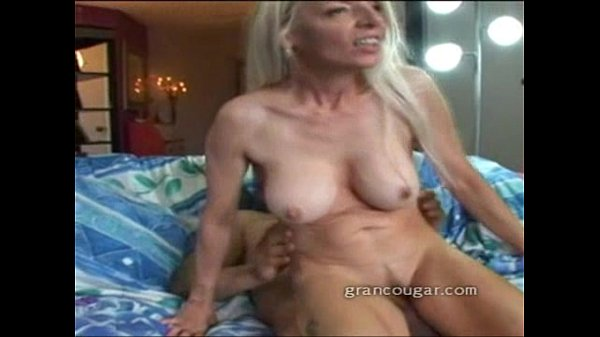 Wild granny riding a hard cock after playing with her wet pussy