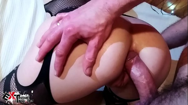Horny Brunette Deepthroat and Ass Fuck with Anal Plug in Lingerie