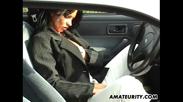 Amateur mom with big tits sucks and fucks in he...