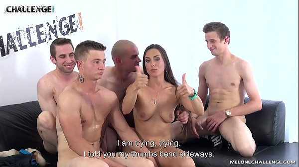 Four Guys Take Turns at Fucking Mea Melone's Holes