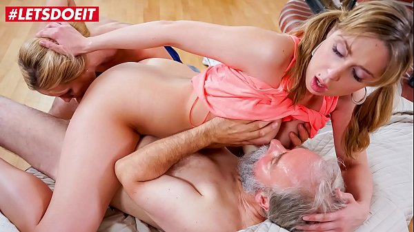 LETSDOEIT - College Girl Sparta Has To Please Her Horny Stepdad Alongside With Her MILF Mom Klara