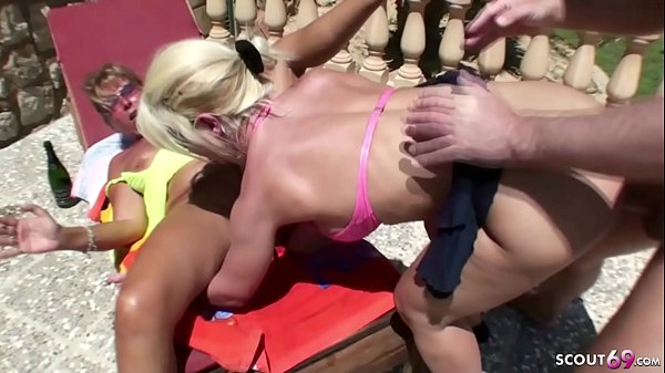 German Mom and Aunt Fuck with Young Guy in FFM ...