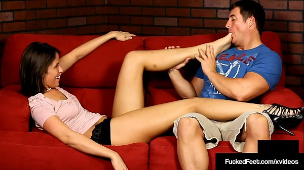Brunette Newbie Ammie Gives Soleful Footjob With Toes & Peds Thumb