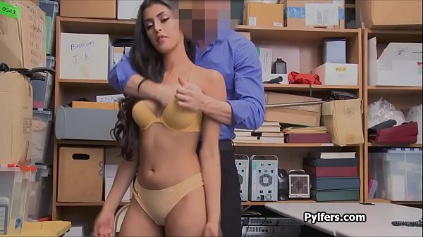 Crazy Latina thief loves the mall securitys cock
