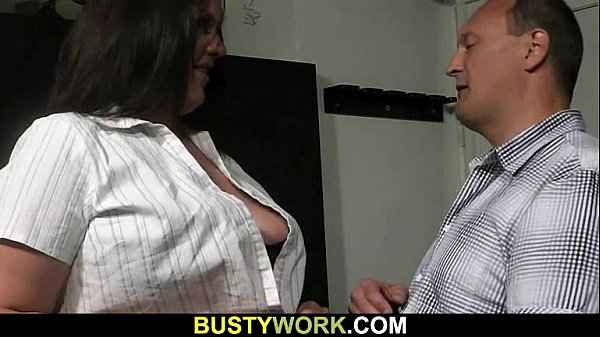 BBW in fishnets gives head then doggystyled