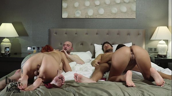 FUCK ME IN THE ASS FRONT OF MY FRIENDS - TWO COUPLES 1 BED