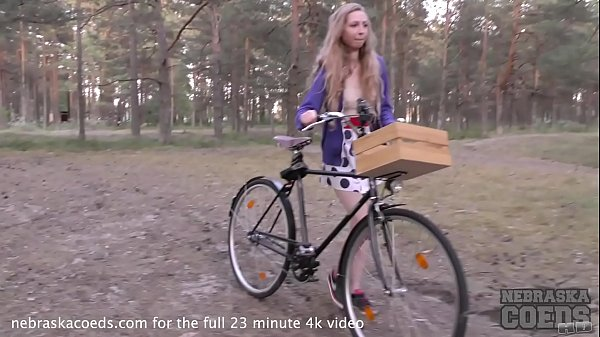 areana fox back riding her bike nude masturbating in the forest