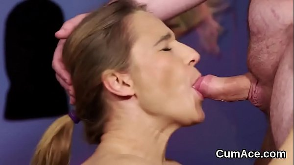 Feisty honey gets cumshot on her face sucking all the juice