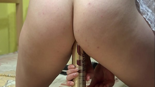 Juicy butt riding a bottle and a huge rubber dick. Stretching and expanding anal and gaping hole. Homemade fetish masturbation. Thumb