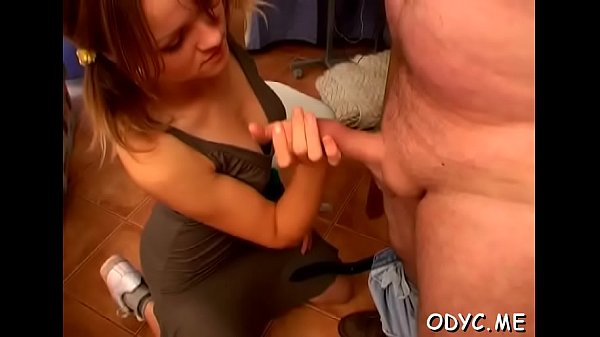 Stunning old and juvenile act with hot babe seducing dad Thumb