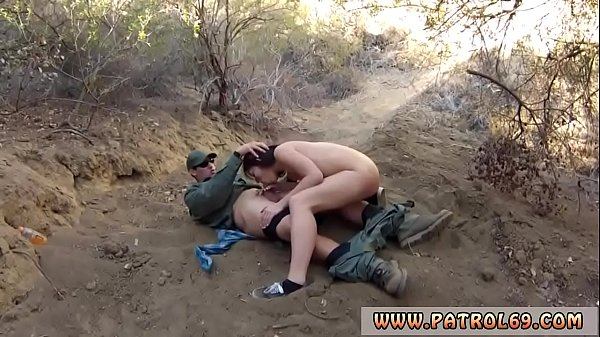 Nasty cops and blond big tits police threesome Mexican border patrol