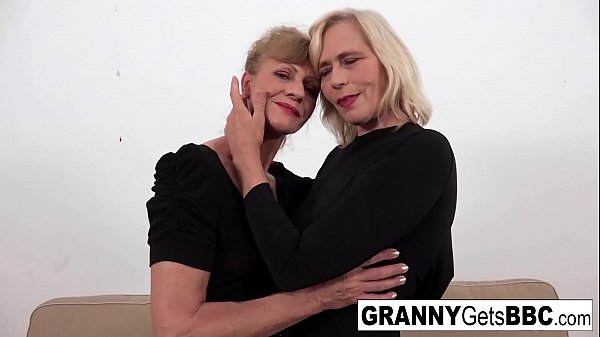 A couple of horny grannies get fucked in the ass by BBC