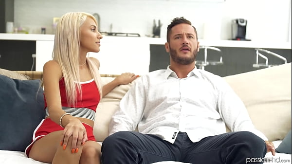 Blonde babe seduces her brothers best friend in a sensual and erotic scene (Hime Marie & Danny Mountain)