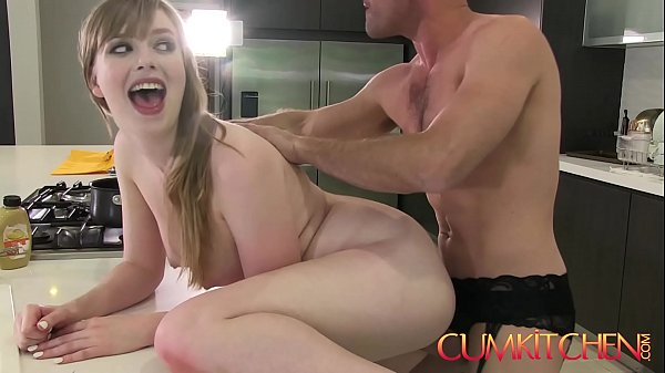 CUM KITCHEN: Busty Babe Dolly Leigh Cooks and Gets Plowed by Panty Boy