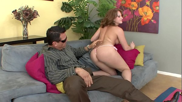 Guy removes brunette Farrah Rae 's sexy bikini and gives her deep drilling on couch