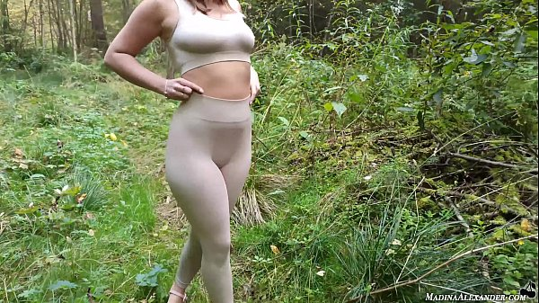 Girlfriend Sensual Sucking Dick and Doggy Fucking in the Forest - Cumshot Thumb