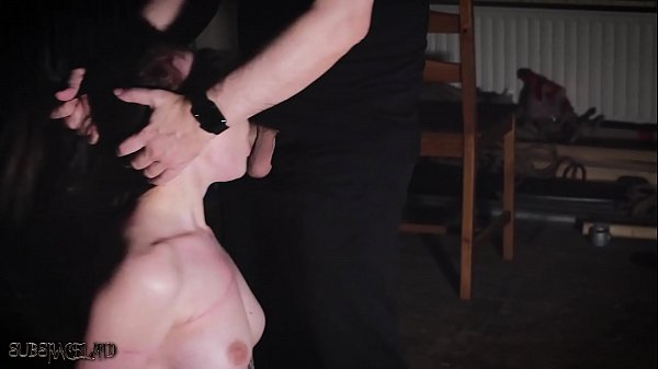 Teen tied up and gives blowjob in rough bondage sex Thumb