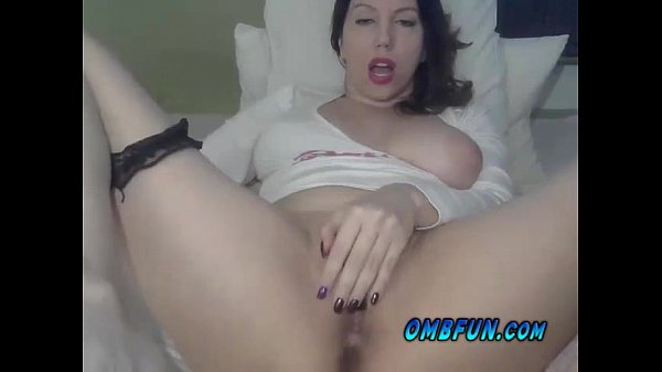 Horny Busty Brunette Milf Rubs Pussy Make Her Wet Visit OMBFUN Today GO NOW