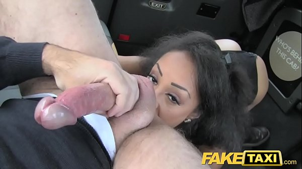 Fake Taxi beautiful young black girl in bodysuit gets cummy pussy