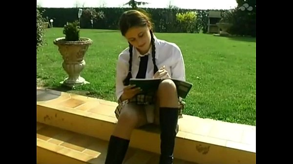 Student Lena gets anal outdoor lesson Thumb