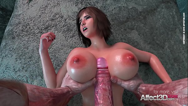 Big tits babe fucked by an ancient monster in a 3d animation