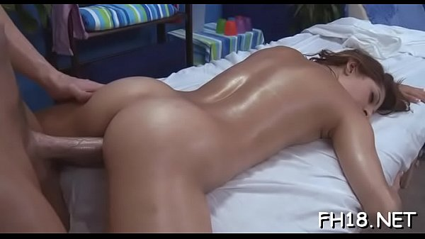Hot 18 year old gril gets fucked hard doggystyle by her massage therapist