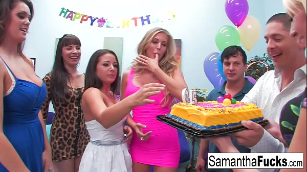 Samantha celebrates her birthday with a wild cr...