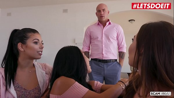 LETSDOEIT - Cheating Stepdaddy Fucks His Teen Stepdaughter And Her BFF's (Gina Valentina, Morgan Lee & Melissa Moore)