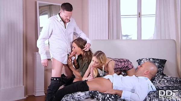 Tina Kay Invites Her Shy Roommate Rebecca Volpetti to Her First Orgy