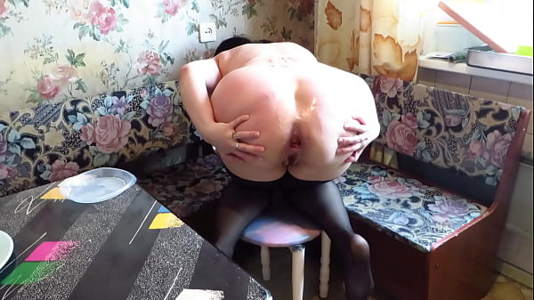 Best anal deep solo from busty milf Fetish food cream filling from big booty and gaping asshole Homemade organic masturbation and anal stretching