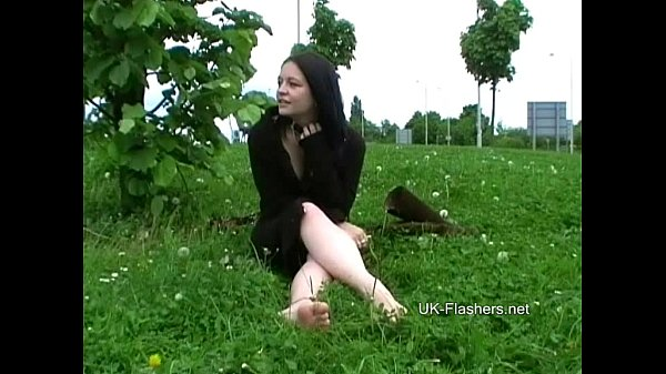 Teen student nude in public and amateur flashing in Birmingham