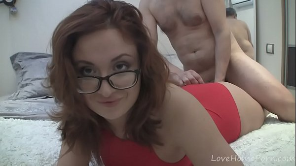 Hot redhead with glasses gets fucked hard