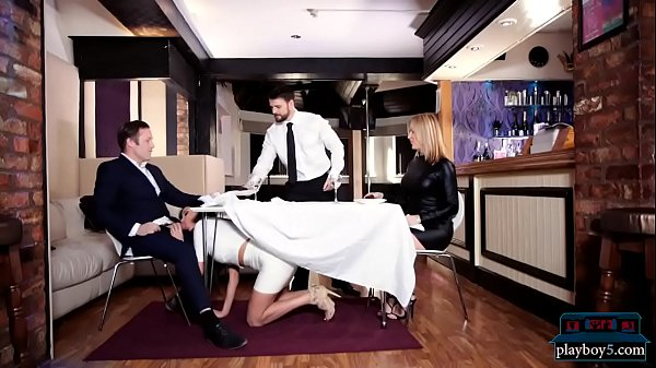 MILF Anissa Kate seduces man for a public toile...