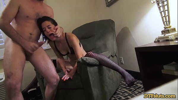 DTFsluts - HORNY BRUNETTE ABBIE MALEY ROUGH FUCK AND FACIAL IN HOTEL ROOM WITH JAMES DEEN