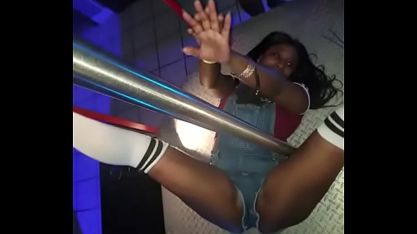 Working the pole in the club with my peoples