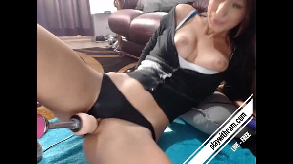 Justalia's being fucked by a fucking-machine hard and she cums very fast
