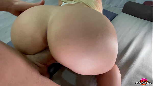 Doggystyle Fucked Pretty Woman with Juicy Ass and Cum on Pussy - Moly Bell