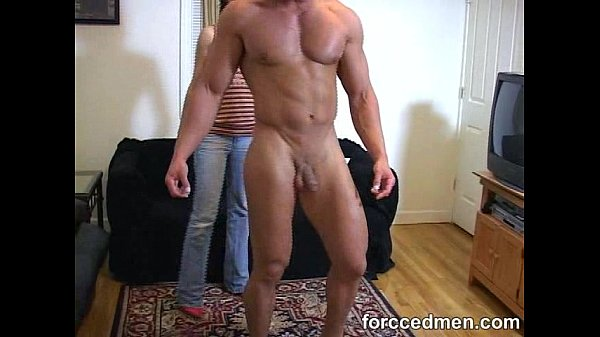 Mistress took man's clothes off to see his muscular body