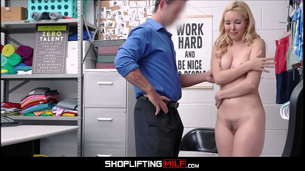 Blonde MILF Aaliyah Love Caught Shoplifting Wine Fucked By Officer After Deal