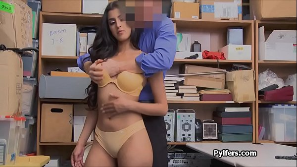 Kinky Latina thief enjoys riding the guards cock