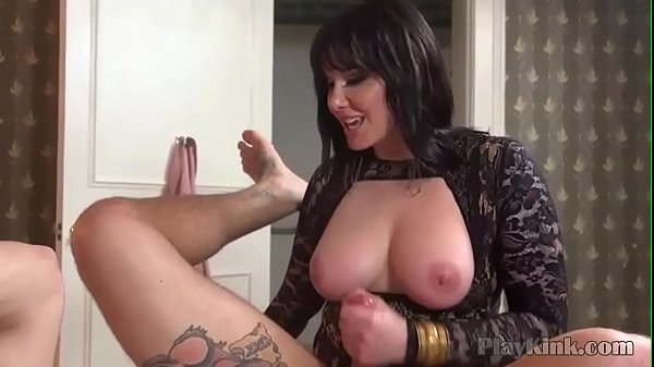 Busty domina pegging her slaves ass Thumb