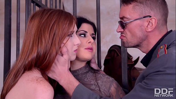 Horny babes Billie Star & Linda Sweet share stud's hard cock in prison cell