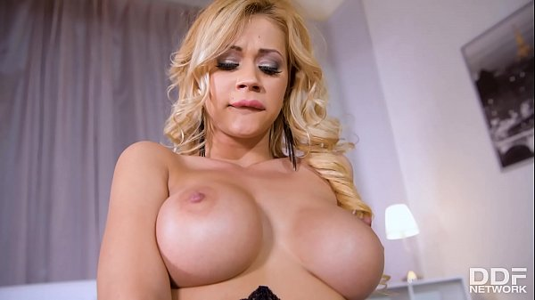 Sultry goddess Peneloppe Ferre fills her shaved wet pussy with sex toys