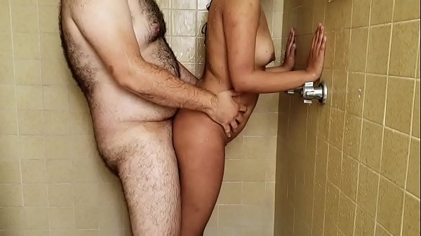 hot niece takes a shower with her uncle at the hotel room