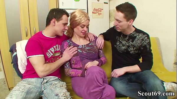 Two Young Boys Seduce Hairy Step Mom to Fuck her Anal Thumb