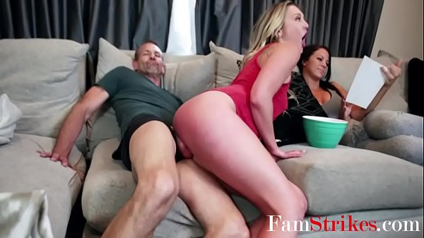 DAUGHTER sits on DAD's COCK- Adira Allure