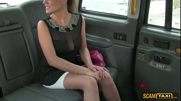 Pervy taxi driver bangs his cute passenger from Romania